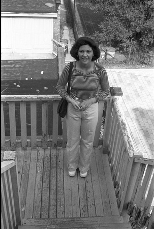 SISTER MARIA ON BACK PORCH OF 6200 BLOCK OF N. CLAREMONT 1974_01