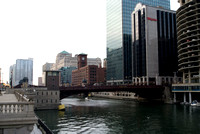 Dearborn & Wacker Streets, Chicago River, Chicago Illinois